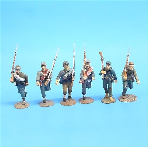 CORD-0566 - Confederates Marching (6 Figures) - ACW - Frontline - 54mm Metal