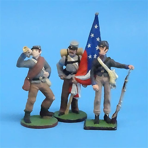 CORD-0525  Confederate Soldiers - ACW - Niena (Russian Made) 60mm Metal - No Box