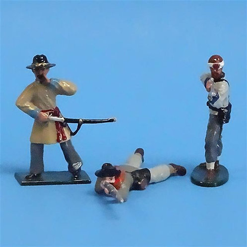 CORD-0517 Confederate Firing Line (3 Figures) - ACW - Tedtoy 54mm Metal - No Box