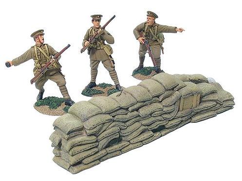 17648 -British 4th Battalion, Royal Fusiliers, Firing Line Set No.2 w/ Barricade