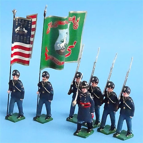 COWF-0143 - 69th Pennsylvania Volunteer Infantry Regt (Irish Regiment, 2 Flags)