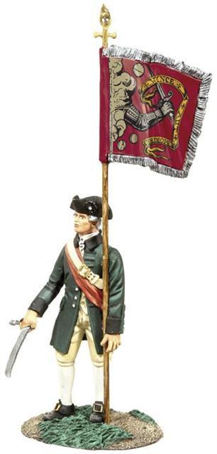 18054 - Colonial Militia Flagbearer No.2, Bedford Colors