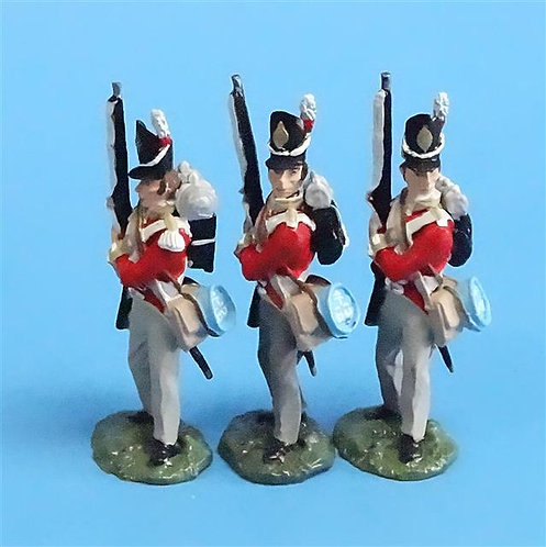 CORD-N0143 - British Infantry - Port Arms (3 Pieces) - All the King's Men - 54mm
