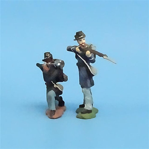 CORD-188 - Iron Brigade Firing (2 Figures) - Manufacturer Unknown - 54mm Metal