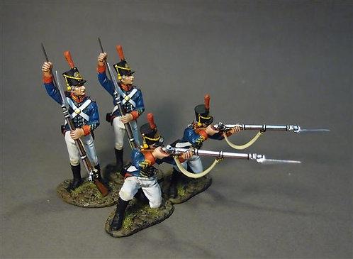 1812M-03N - Marines Firing and Loading Set  US Marine Corps, 1814  War of 1812