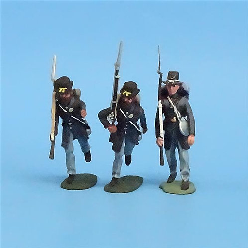 CORD-189 Iron Brigade Advancing (3 Figures) - Manufacturer Unknown - 54mm Metal