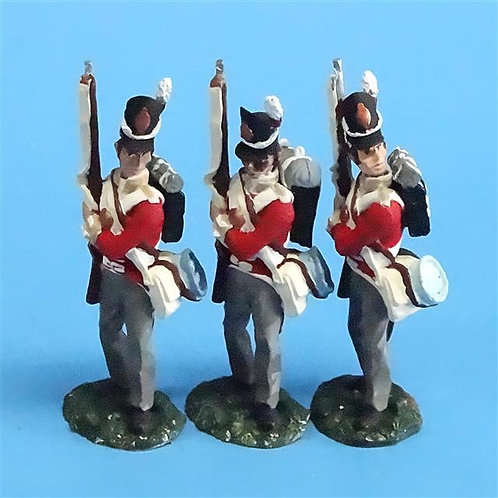 CORD-N0160 - British Infantry - Port Arms (3 Pieces) - All the King's Men  54mm