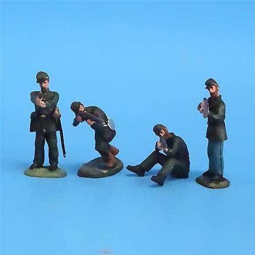 CORD-053 - Berdan's Sharpshooters Firing (4 Figs) - LeMans - 54mm Metal - No Box