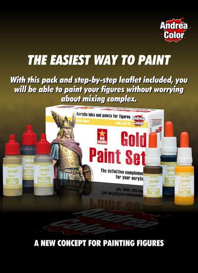 ACS-008 - Gold Paint Set - Andrea Color