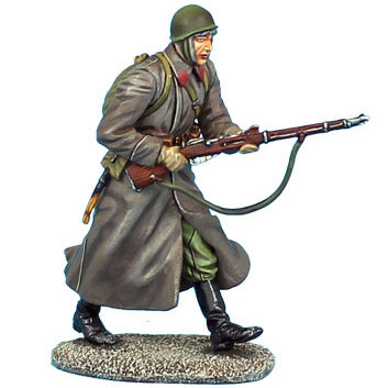 RUSSTAL027 - Russian Infantry Running in Greatcoat