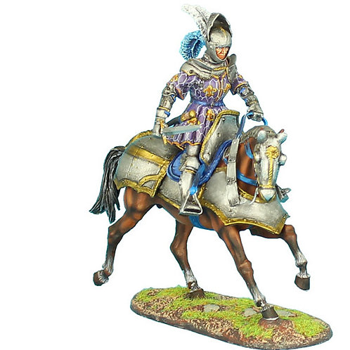 REN035 - French Mounted Knight with Sword #1