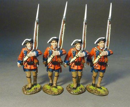 RRB60-12N - 4 Line Infantry Marching  60th (Royal American) Regiment of Foot