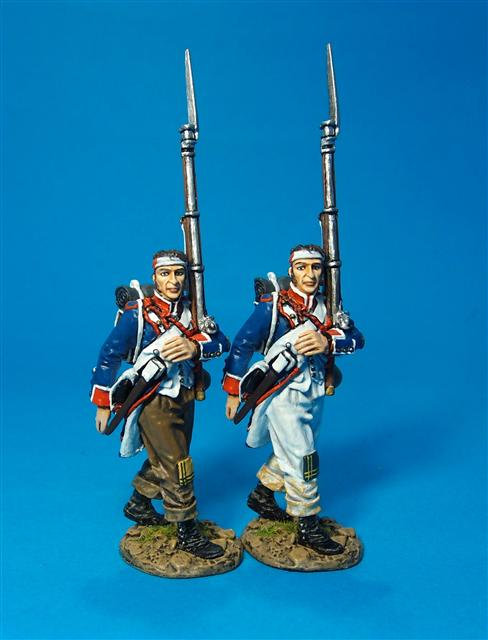 PFL-08D - Wounded Fusiliers Marching - 2 Figures  French Line Infantry, 1807