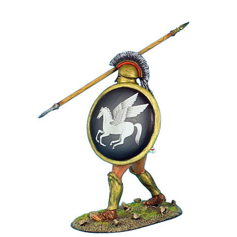 AG005 - Greek Hoplite with Brass Armor and Pegasus Shield