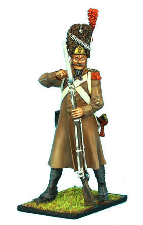 NAP339 - French 18th Line Infantry Grenadier Loading with Greatcoat