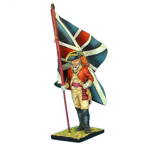 AWI041 - British 22nd Foot Standard Bearer - King's Colors