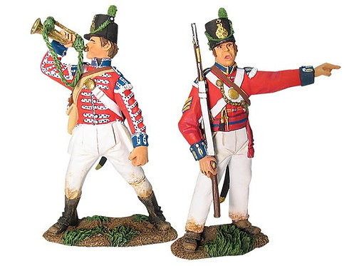 17883 - British Coldstream Guards Light Company NCO and Bugler Set No.1
