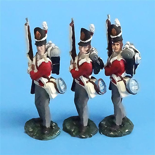 CORD-N0147 - British Infantry - Port Arms (3 Pieces) - All the King's Men - 54mm
