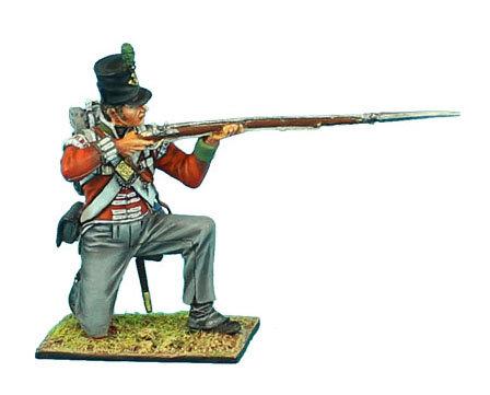NAP480 - British 51st Light Infantry Regiment Kneeling Firing - Waterloo 1815
