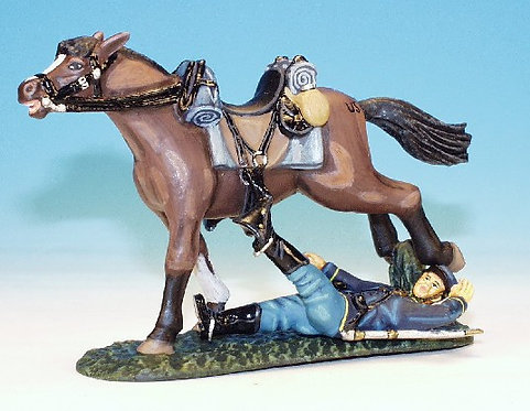 MUC.10 - Wounded Trooper, Trapped Under Horse, Mounted Cavalry