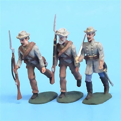 CORD-0809 -Confederates Marching (3 Figures) - ACW - Unknown Manufacturer - 54mm
