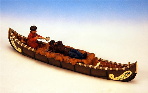 IWC.7 - 1 Trapper and 1 Indian Paddling Canoe, Woodland Indian Canoes
