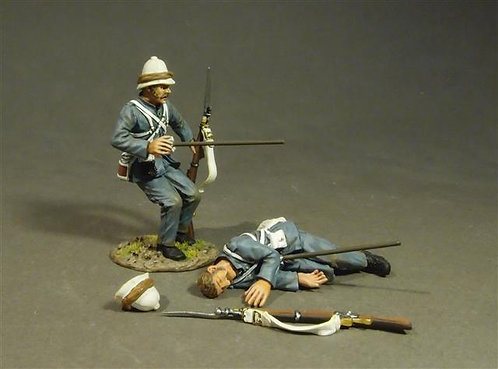 RML-04 - Two Wounded Marines  Royal Marine Light Infantry
