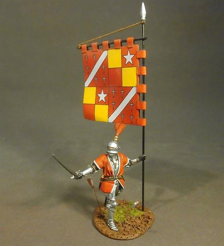 OXLANC-02 - Man-at Arms with Battle Banner  The Retinue of John de Vere