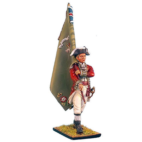 AWI024 - British 5th Foot Standard Bearer with Regimental Colors