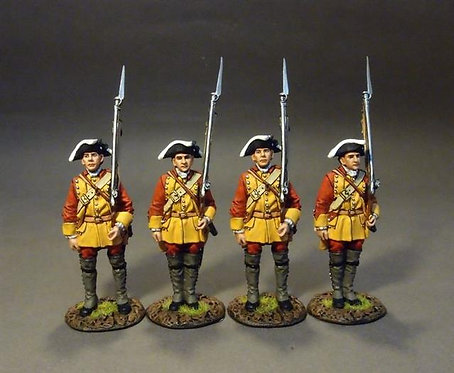 RRBC-03N Connecticut Provincial Regiment of Foot, Line Infantry at Attention Set