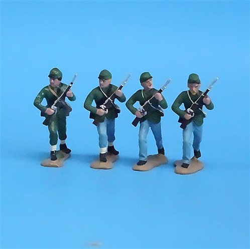 CORD-064  Berdan's Sharpshooters (4 Figures) - Manufacturer Unknown - 54mm Metal