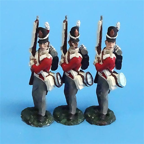 CORD-N0139 - British Infantry - Port Arms (3 Pieces) - All the King's Men - 54mm