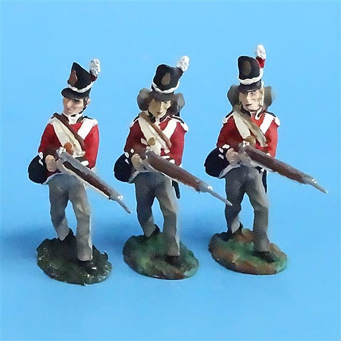 CORD-N0177 - British Infantry - Advancing (3 Pieces) - All the King's Men  54mm