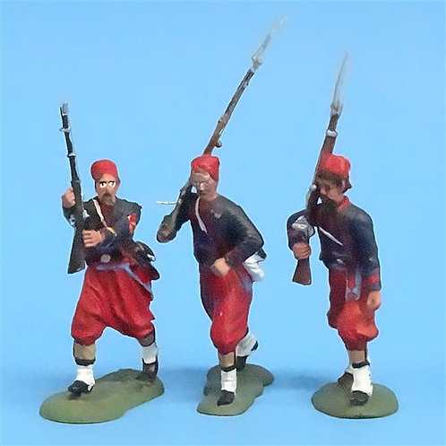CORD-329 -Union Zouaves (3 Figures) - Unknown Manufacturer - 54mm Metal - No Box