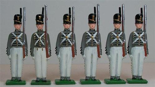 A100 - West Point Cadets, 1815 - 6 pieces