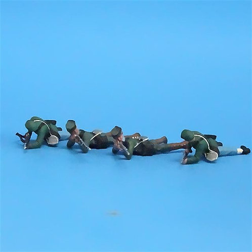 CORD-062 -Berdan's Sharpshooters (4 Figures) - Manufacturer Unknown - 54mm Metal