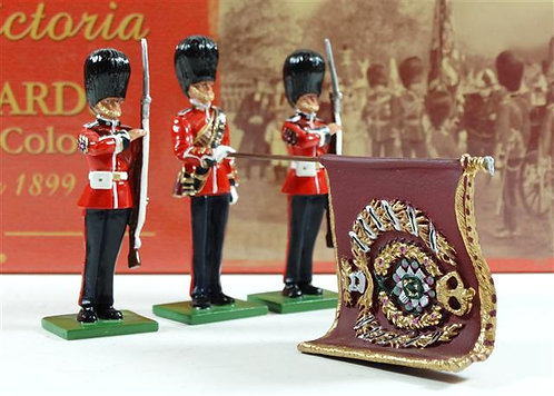 5991 Scots Guards State Colour Presentation 1899  Colour Party with State Colour