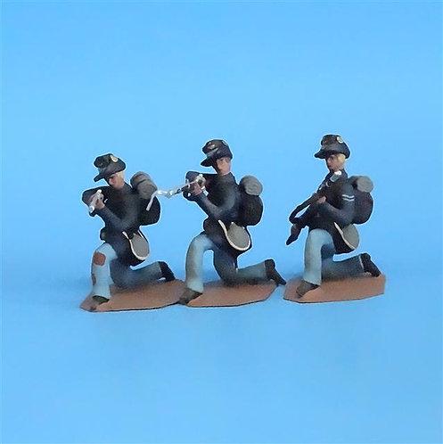 CORD-169 Iron Brigade Kneeling (3 Figures) - Soldier Bay Miniatures - 54mm Metal