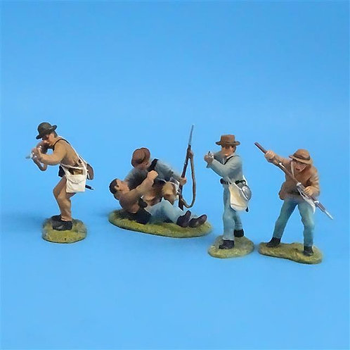 CORD-0542 - Confederates  (4 Figures) - ACW - Britains (from Set 17301) - 54mm
