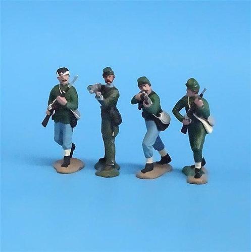 CORD-065  Berdan's Sharpshooters (4 Figures) - Manufacturer Unknown - 54mm Metal
