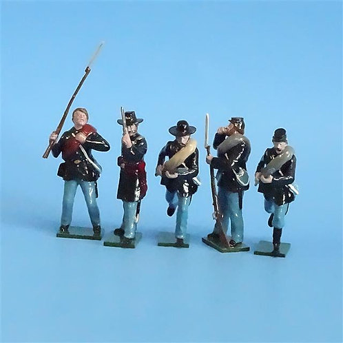CORD-255 - Union Infantry (5 Figures) - ACW - Tradition - 54mm Metal - No Box