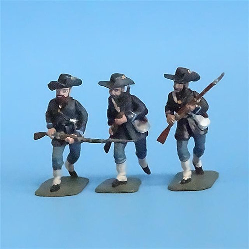 CORD-161 Iron Brigade Advancing (3 Figures) - Manufacturer Unknown - 54mm Metal