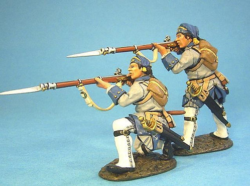 QFM-03 - French Marines in Justacorps Wearing Pokalem Firing 3 (2pcs) (RETIRED)