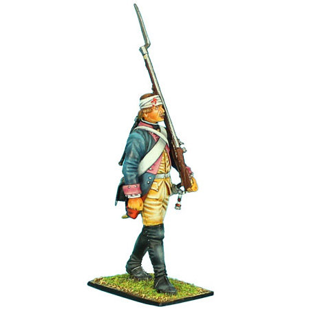 SYW008 - Prussian 7th Line Infantry Regiment Musketeer Marching Bandaged Head