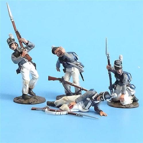 CORD-A0125 - Scotts Brigade Wounded (4 Pieces) - John Jenkins (Set USCH-06)