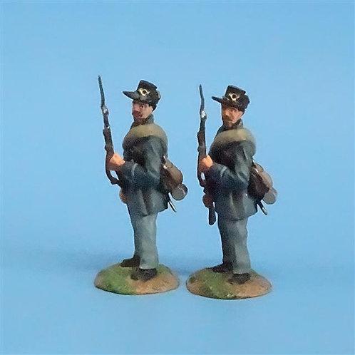 CORD-128 Iron Brigade At the Ready (2 Figs) - ACW - Conte - 54mm Metal - No Box