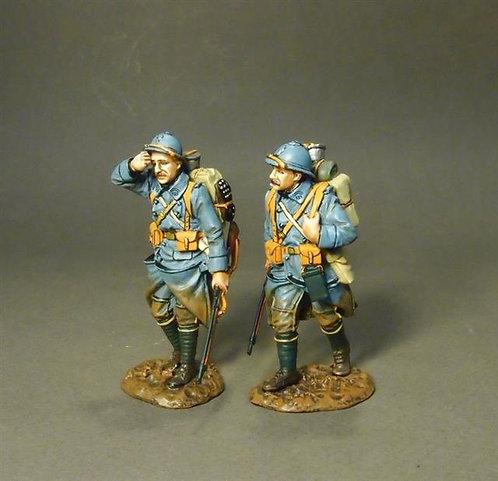 GWF-23 - 123e Regiment of Infantry  2 PCDF Walking  French Infantry 1917-1918