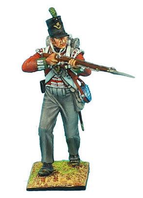 NAP485 - British 51st Light Infantry Regiment Advancing Firing - Waterloo 1815