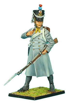 NAP326 - French 18th Line Infantry Fusilier Standing in Greatcoat