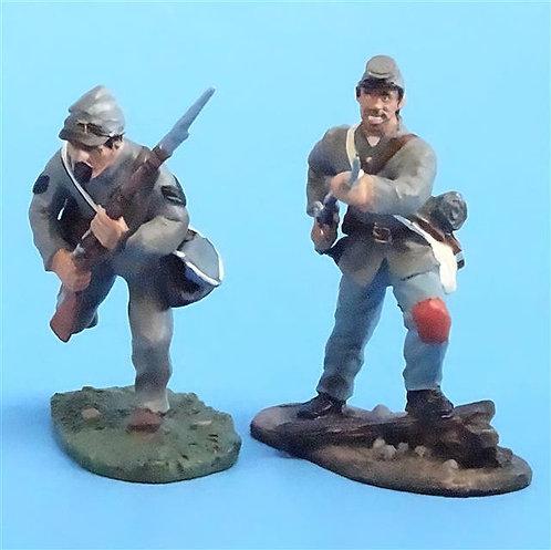 CORD-0657 - Confederates Advancing (2 Figures) - ACW - Britains - 54mm Metal